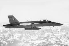 在作战义务的喷气式歼击机 免版税库存照片