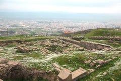 佩尔加蒙上城在土耳其 免版税库存图片