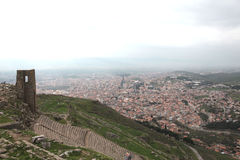 佩尔加蒙上城在土耳其 免版税图库摄影