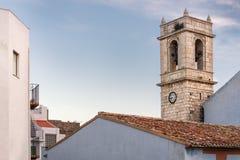 在佩尼伊斯科拉城堡,西班牙的塔 免版税库存照片