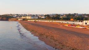 在佩恩顿德文郡英国附近的Goodrington海滩 图库摄影