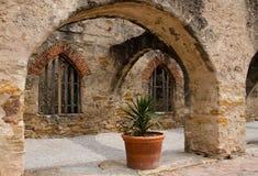 在使命圣何塞,圣安东尼奥,得克萨斯的Convento 库存照片