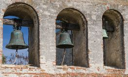在使命圣胡安卡皮斯特拉努的任务铃声 库存照片