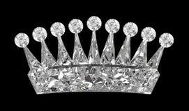 在侧视图的黑色冠宝石 向量例证