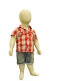 在便衣穿戴的儿童时装模特 免版税库存图片