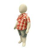 在便衣穿戴的儿童时装模特 库存图片