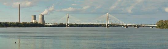 在俄亥俄河的Natcher桥梁 免版税库存照片