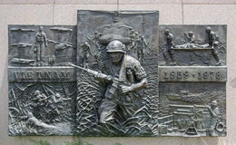 在俄克拉何马状态地面的越南纪念品 库存图片