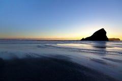 在俄勒冈海岸的日落 图库摄影