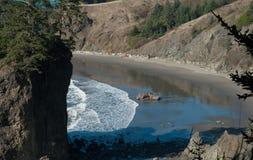 在俄勒冈海岸线的海滩 图库摄影