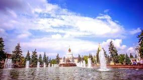 在俄国人的莫斯科和入口的喷泉 股票录像