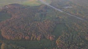 在俄国人领域和村庄的飞行 影视素材