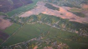 在俄国人领域和村庄的飞行 股票录像