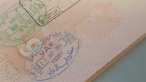 在俄国护照的签证图章 影视素材
