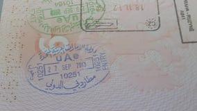 在俄国护照的签证图章 股票录像