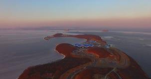 在俄国海岛上的海边Oceanarium 股票视频