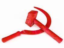 在俄国革命时被设想的共产主义标志 免版税库存照片