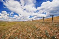 在俄罗斯和蒙古之间的边界 免版税库存照片