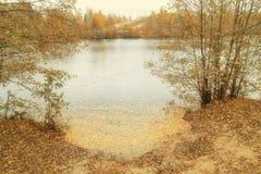 在俄罗斯的中间车道的秋天 库存照片