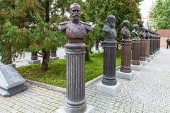 在俄罗斯的统治者的胡同的雕象 库存照片