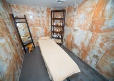在保加利亚按摩室在Kranevo旅馆复合体的温泉中心 库存照片