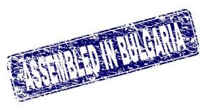 在保加利亚装配的难看的东西构筑了被环绕的长方形邮票 皇族释放例证