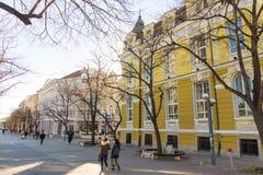 在保加利亚语布尔加斯的12月 免版税图库摄影