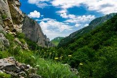 在保加利亚语弗拉察巴尔干的山风景 库存图片