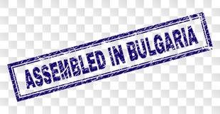 在保加利亚长方形邮票装配的难看的东西 皇族释放例证