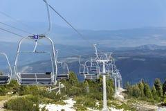 在保加利亚, Rila山打开导致七个rilski湖的推力 库存照片