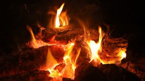 在保持温暖的火的火燃烧 影视素材