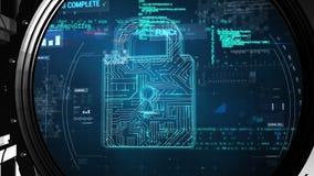 在保险柜和数据锁的信息 皇族释放例证