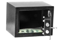 在保险柜的金钱 图库摄影