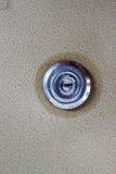 在保险柜的组合键锁 库存图片