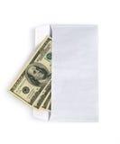 在信包的货币 库存照片