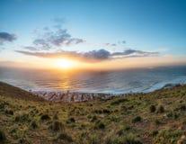 在信号小山开普敦的日落 库存图片