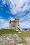 在信号小山,圣约翰` s,纽芬兰的Cabot塔 免版税库存照片