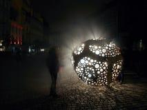 在信号节日布拉格的豹猫Cestmir Suska & Petr Pufler 免版税库存照片