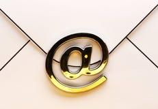 在信封的电子邮件标志 库存照片