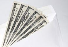 在信封3的美元 免版税库存图片