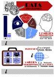 在信息题目的Infographics  免版税图库摄影