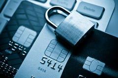 在信用卡的资料加密 免版税库存图片