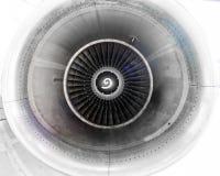 在修理附近的飞机发动机,刀片的检查刀片 库存照片