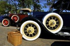 1929年在俾斯麦车展的福特汽车 免版税图库摄影