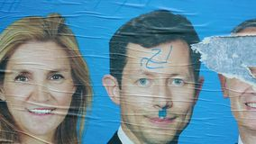 在候选人的面孔的平底锅损坏了题字 影视素材