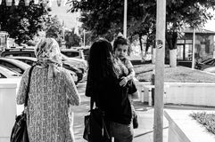 在假期期间的土耳其夏天镇-土耳其 库存图片