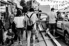 在假期期间的土耳其夏天镇-土耳其 图库摄影