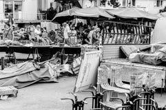 在假期期间的土耳其夏天镇-土耳其 免版税库存图片