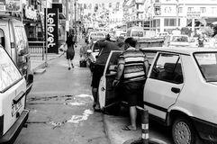 在假期期间的土耳其夏天镇-土耳其 免版税图库摄影