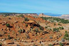 在偏僻的谷的风景在Escalante,犹他附近 免版税库存图片